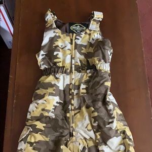 Camo snow overalls and snow coat for kids